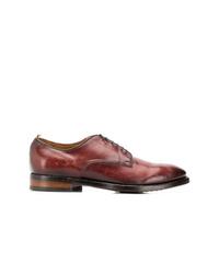 dunkelrote Leder Derby Schuhe von Officine Creative