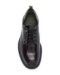 dunkelrote Leder Derby Schuhe von Pezzol 1951