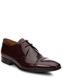 Dunkelrote Leder Oxford Schuhe von Paul Smith