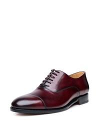dunkelrote Leder Oxford Schuhe von SHOEPASSION