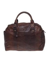 dunkelrote Leder Reisetasche von Asos