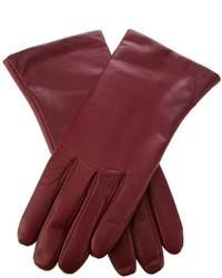 dunkelrote Lederhandschuhe von P.A.R.O.S.H.