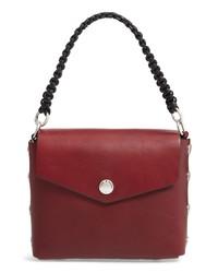 dunkelrote Lederhandtasche