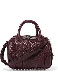dunkelrote Lederhandtasche von Alexander Wang