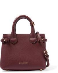 dunkelrote Lederhandtasche von Burberry