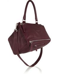 dunkelrote Lederhandtasche von Givenchy