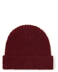 dunkelrote Mütze