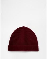 dunkelrote Mütze von Asos