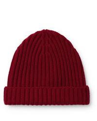dunkelrote Mütze von Loro Piana