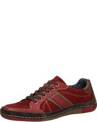 dunkelrote niedrige Sneakers von Bama