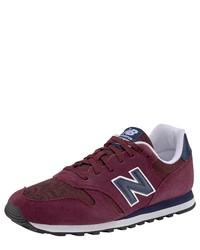 dunkelrote niedrige Sneakers von New Balance