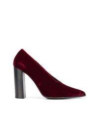dunkelrote Samt Pumps von Stella McCartney