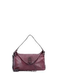 dunkelrote Satchel-Tasche aus Leder von Caterina Lucchi