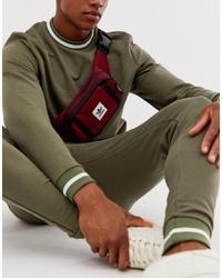 dunkelrote Segeltuch Bauchtasche von adidas Originals