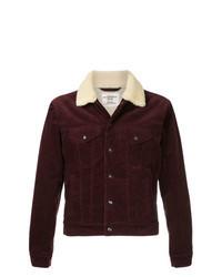 dunkelrote Shirtjacke aus Cord