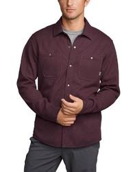 dunkelrote Shirtjacke von Eddie Bauer