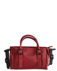 dunkelrote Shopper Tasche aus Leder von Margelisch