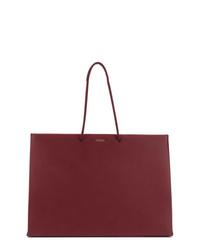 dunkelrote Shopper Tasche aus Leder von Medea