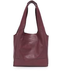 dunkelrote Shopper Tasche aus Leder von Rag & Bone