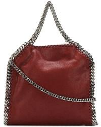 dunkelrote Shopper Tasche aus Leder von Stella McCartney