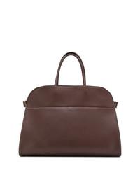dunkelrote Shopper Tasche aus Leder von The Row