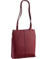 dunkelrote Shopper Tasche aus Leder von VOi