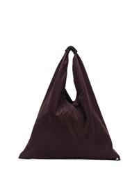 dunkelrote Shopper Tasche aus Segeltuch von MM6 MAISON MARGIELA