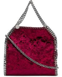 dunkelrote Shopper Tasche von Stella McCartney