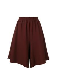 dunkelrote Shorts mit Karomuster von MM6 MAISON MARGIELA