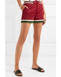 dunkelrote Shorts von Gucci