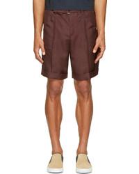 dunkelrote Shorts von Valentino