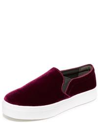 dunkelrote Slip-On Sneakers von Sam Edelman