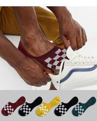dunkelrote Sneakersocken von ASOS DESIGN
