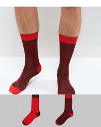 dunkelrote Socken von Asos