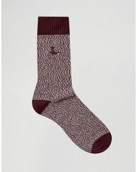dunkelrote Socken von Jack Wills