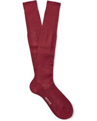 dunkelrote Socken
