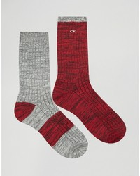 dunkelrote Socken von Calvin Klein Jeans