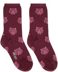 dunkelrote Socken von Kenzo