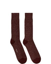 dunkelrote Socken von Paul Smith