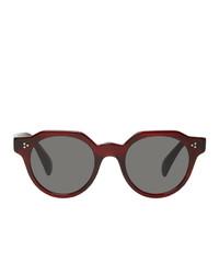 dunkelrote Sonnenbrille von Oliver Peoples