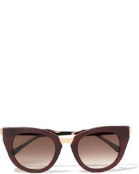 dunkelrote Sonnenbrille von Thierry Lasry