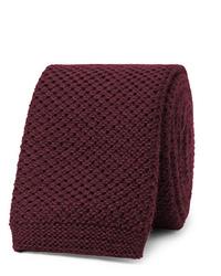 dunkelrote Strick Krawatte von Hugo Boss