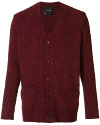 Dunkelrote strickjacke original 412182