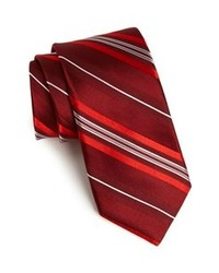 dunkelrote vertikal gestreifte Krawatte