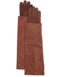 dunkelrote Wildlederhandschuhe