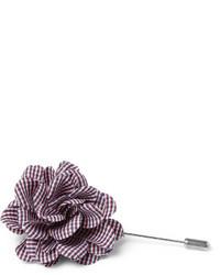 dunkelroter Anstecknadel mit Blumenmuster