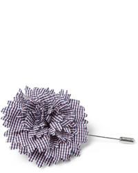dunkelroter Anstecknadel mit Blumenmuster von Lanvin