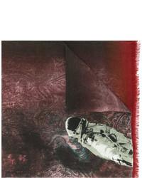 dunkelroter bedruckter Schal von Etro