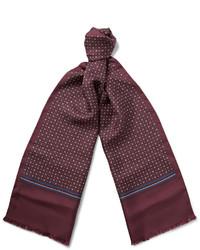 dunkelroter bedruckter Schal von Gucci
