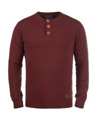 dunkelroter Henley-Pullover von BLEND
